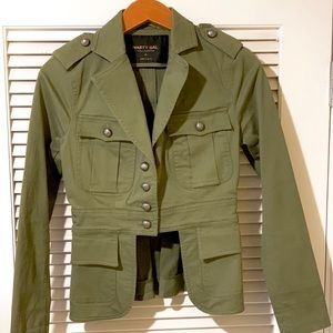 NWOT NASTY GAL COLLECTION Green Military Jacket XS